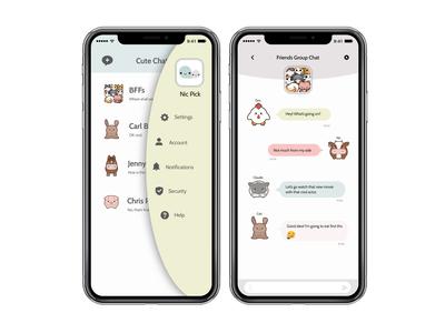 Cute chat app