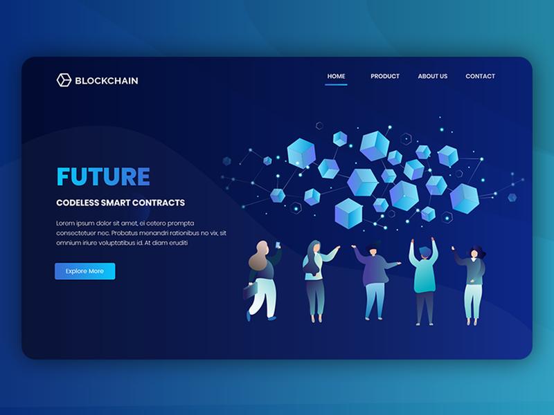 Block Chain block chain smart contract information design information wesite ui illustrator photoshop blockchain
