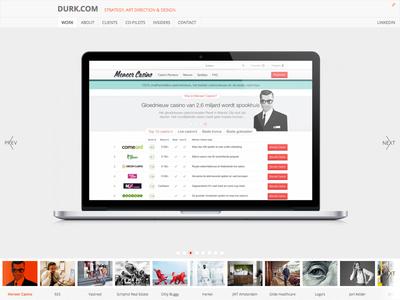 Durk.com ui web webdesign development portfolio craft craftcms