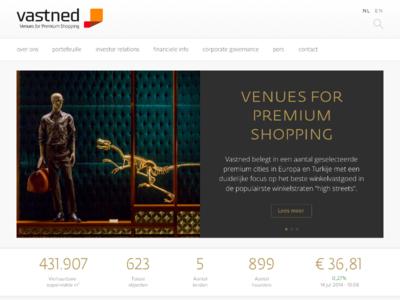 Vastned ui web webdesign development art direction retail real estate shopping craft cms