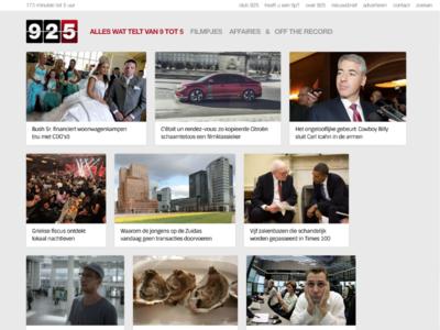 925.nl finance media vice art direction ui ux frontend web webdesign
