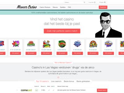 Mister Casino casino ui webdesign art direction homepage home frontpage bonus