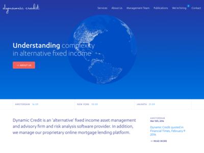 Dynamic Credit spinning globe canvas webgl business finance design development credit dynamic