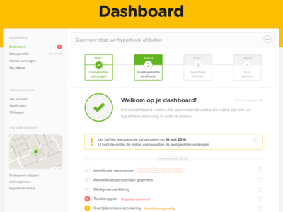 Online Mortgage Dashboard conversion funnel complex form feedback ux ui house housing mortgage