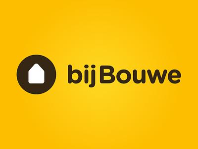 Bijbouwe Logo online housing graphic simple dutch mortgage yellow design logo