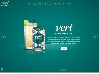 Veri Soda Ginger Ale design development homepage slider landing web liquid orange juice soda organic drinks