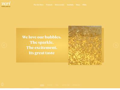 Veri Soda Intro Slider video design development homepage slider landing web liquid orange juice soda organic drinks