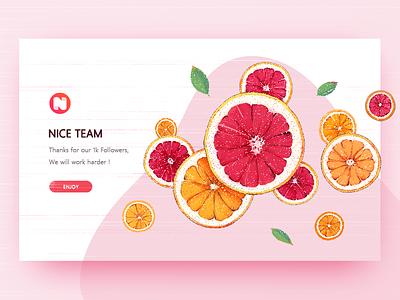 Congratulations 插图,插画,橙子,柚子,网页 web yellow pink grapefruit illustrations,orange