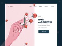 手与鲜花(3)--Hand and flowers(3)