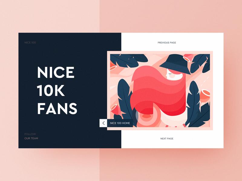 NICE 100 10K Followers! illustration