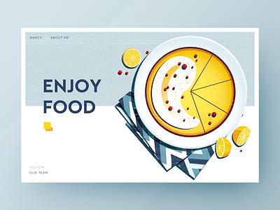 Enjoy food food design illustration