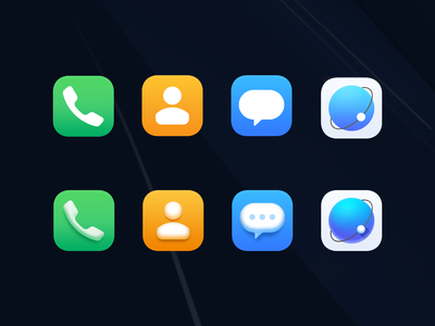 Icon 1 planet orange blue green effects browser earth message contact phone illustration ux ui design icon theme