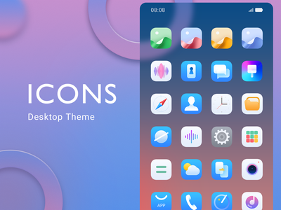 Theme Lcon browser contact earth ui design icon phone green blue orange planet logo illustration design app theme ui ux