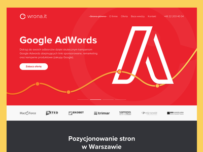 Wrona.it – Warsaw based SEO agency landing adwords agency seo website web