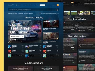 RAWG – main page