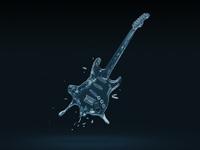 Liquid guitar splash