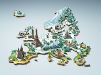 Europe - 3D Key visual winter edition