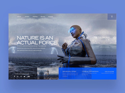 Nature Is An Actual Force Ui Design Concept.