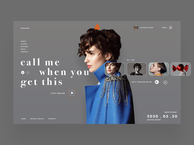 Call Me When You Get This Ui Design Concept fashion photography graphic designer graphic design logo designer logo design uiux designer ux design ui design web designer web design