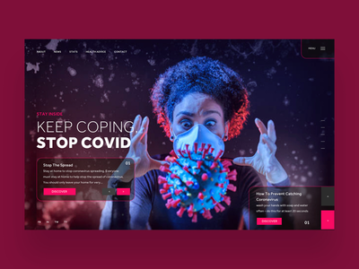 Keep Coping, Stop Covid Ui design concept logo design fashion photography covid19 coronavirus graphic design ux design ui design web designer web design