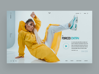 Forced Entry Web Ui Design Concept logo designer design inspiration daily design fashion photography graphic design graphic designer ux design ui design web designer web design