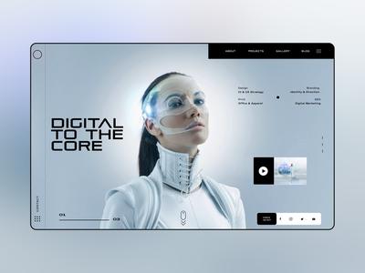 Digital To The Core Ui Design Concept design daily design inspiration graphic design photography ux ui ui designer ux design ui design web designer web design