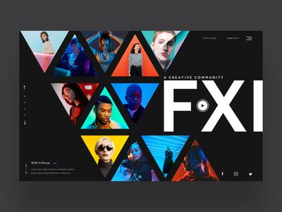 FXI - web design concept ui trends fashion photography ui design graphic designer logo design logo designer web designer web design
