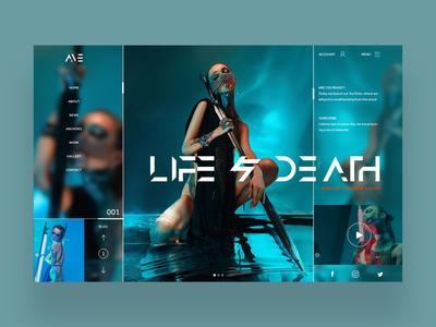 Life & Death Web Ui Design Concept fashion ux ui photography art graphic design ux design ui design web design