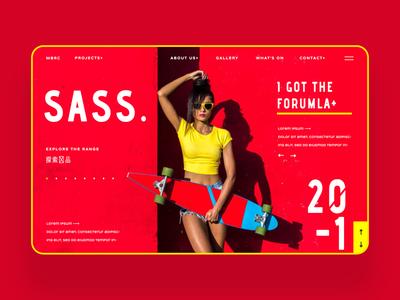 Sass Fashion Blog Ui Design Concept design inspiration daily design photography logo design ux design ui design graphic design web design