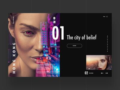 Choose Your City - Web Design Concept uiux ux ui art design photography art logo design ux design graphic design ui design web design