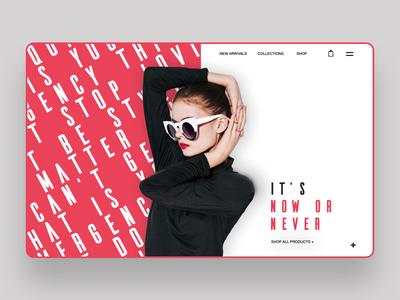 It's Now Or Never Web Ui Design Concept fashion photography digital designer ux logo designer ui ux design ui design web designer web design