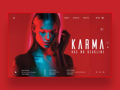 Karma has no deadline ui design concept design inspiration daily inspiration photography ux ui ux design ui design web design