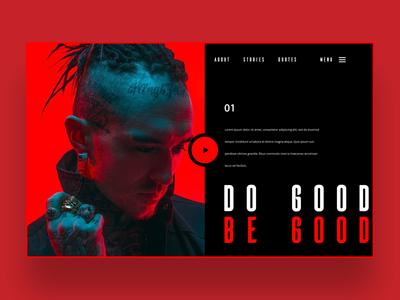 Do Good Be Good web ui design concept logo design graphic design graphic designer web designer web design