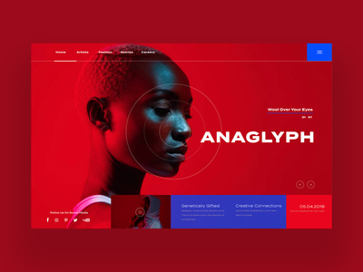 Anaglyph Web Ui Design Concept fashion design graphic design photography graphic designer web designer is ui ux design ui design web design