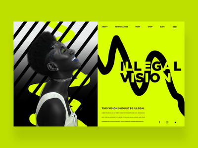 Illegal Vision Ui Design Concept fashion photography ux ui ux design ui design logo design graphic design web design