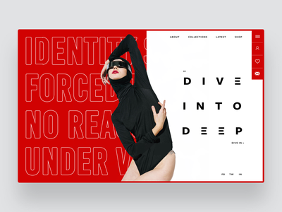 Dive In Deep design inspiration red design fashion photography ux ui ux design ui design web designer web design
