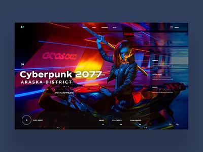 Cyberpunk 2077 Ui Design Concept graphic design gaming cyberpunk 2077 ux ui photography ux design ui design web designer web design