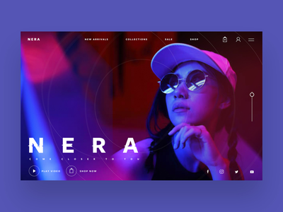 Nera Sunglasses Ui/Ux Design Concept design inspiration ux ui fashion photography ux design ui design graphic designer graphic design web designer web design