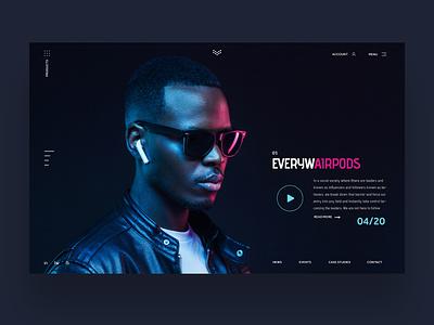 Everywhairpods Ui Design Concept logo design web designer fashion design inspiration ui photography graphic design ux design ui design web design