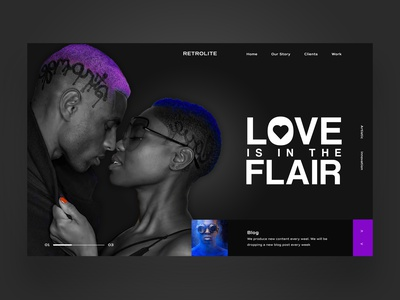 Love Is In The Flair Website UI Design Concept daily design uiux design inspiration ux ui photography graphic design ux design ui design web design