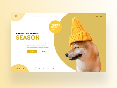 Puppies In beanies Ui Design Concept daily design design design daily web designer ux ui graphic design ux design ui design web design