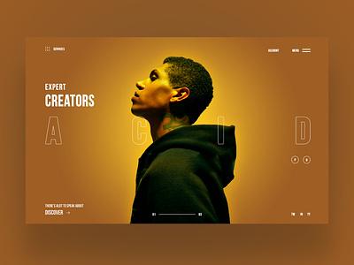 A.C.I.D Ui Design Concept uiux design daily web designer daily design ux ui graphic design ui design ux design web design