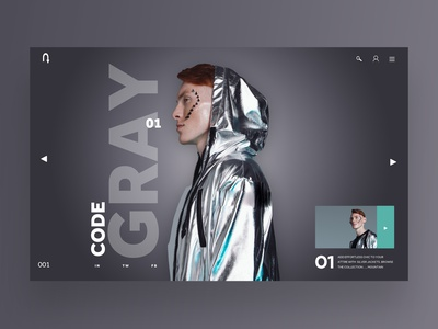 Code Gray Ui/Ux Design Concept web designer uiux design inspiration ux ui photography graphic design ux design ui design web design