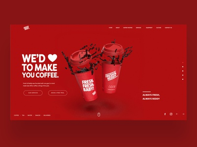 Fresh & Reddy Ui/UX Design web development web designer website design uiux daily design design inspiration ux ui photography graphic design ux design ui design web design