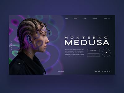 Monterno Medusa Ui Design Concept daily design uiux design inspiration ui ux photography graphic design ux design ui design web design web