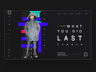I Know What You Did Last Summer 1 Ui Design Concept web designer web design agency webdesign daily design uiux design inspiration ux ui photography graphic design ux design ui design web design