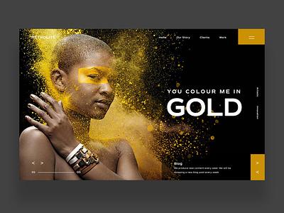 You Colour Me In Gold Website Ui Design Concept daily design uiux design inspiration ux ui photography graphic design ux design ui design web design