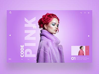 Code Pink Web Ui Design Concept web designer uiux daily design design inspiration ux ui photography graphic design ux design ui design web design