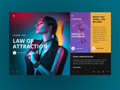 Law Of Attraction Web Ui Design Concept web designer fashion design inspiration ux ui photography graphic design ux design ui design web design