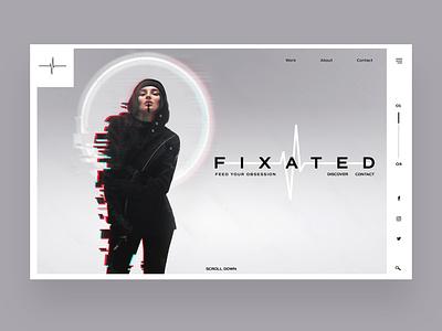 Fixated Ui Design Concept logo illustration design ux ui photography graphic design ux design ui design web design